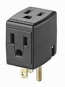 Leviton 000–00692–00E 12unidades Cubo de grifo 3salida cubo adaptador, negro tamaño: 12-Pack Color: Negro, Modelo:, herramientas y Ferretería