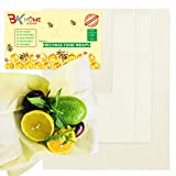 Reusable Beeswax Food Wrap, Organic Eco Friendly Food Wraps - Sustainable, Washable Plastic Free & Biodegradable Food Storage, Healthy and Breathable Material. Pack of 4 (1 Small, 2 Medium, 1 Large)