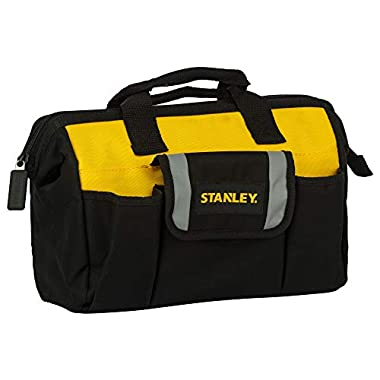STANLEY STST512114 12'' Multipurpose Tools Storage Water Proof Open Mouth Bag (Yellow-Black) 8