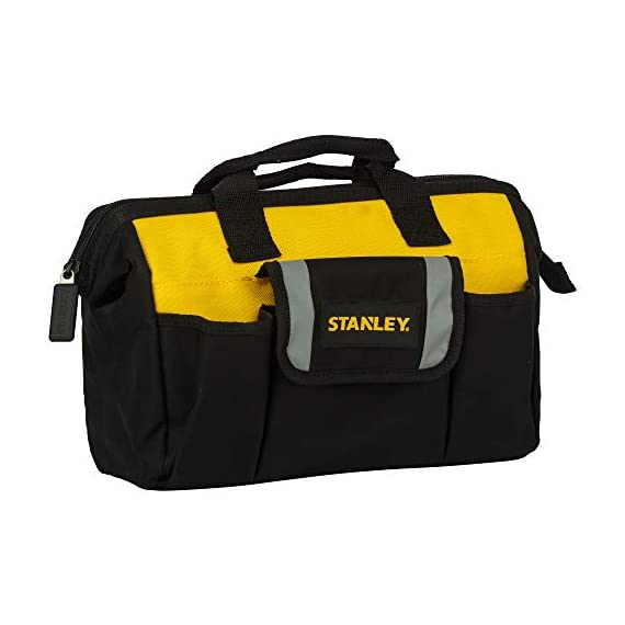 STANLEY STST512114 12'' Multipurpose Tools Storage Water Proof Open Mouth Bag (Yellow-Black) 1