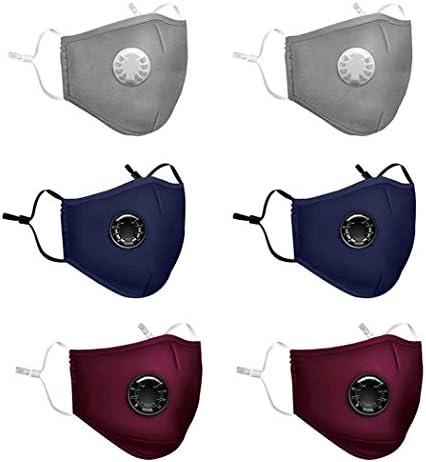 6PCS Maschera per la bocca Anti-appannamento antipolvere Mezza faccia PM2.5 Maschera Copricapo con filtri