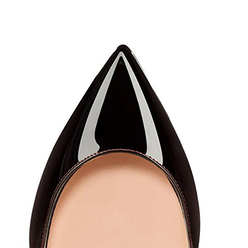 Flat Blackred Pointed Ballet Basic AIWEIYi On Toe Closed Women's Shoes Slip qBnYaT