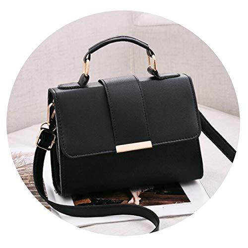 Women Bag Leather Handbags PU Shoulder Bag Small Flap Crossbody Bags fors,black,20x15x6cm