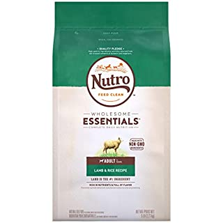 NUTRO WHOLESOME ESSENTIALS Natural Adult Dry Dog Food Lamb & Rice Recipe Dog Kibble, 5 lb. Bag