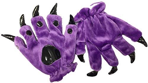 VU ROUL Hairy Animal Paw Gloves Funny Monster Costume Halloween Costume Hand Gloves -