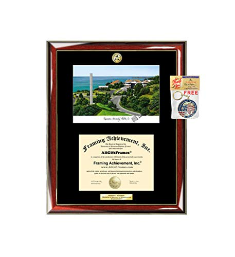 (Pepperdine University Diploma Frame School Lithograph Major Logo Degree Display Certificate Plaque Graduation Gift Gradute Black Matted University Diploma Frames)