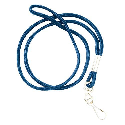 - Swingline GBC ID Lanyard, Round Lanyard with Swivel Hook, BadgeMates, Blue, 12 Pack (3748014)