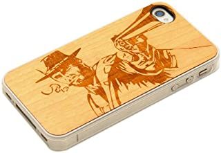 product image for CARVED Wild West Wood Clear Case for iPhone 4/4S - Natural Bamboo (CC1A-E-WLDWST)