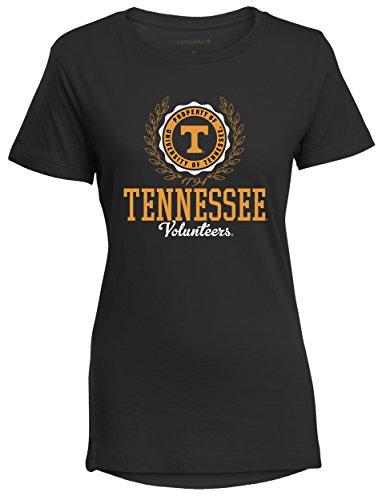 Camp David NCAA Tennessee Volunteers Women's Perfect Crewneck Tee, Medium, Black