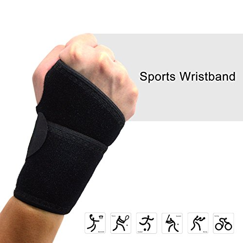 Price comparison product image Beyoung® Breathable Neoprene Adjustable Elastic Velcro Wristband Wrist Band Support Wrist Support Brace Wrap Strap Belt Protector / Thumb Hole for Volleyball Badminton Tennis Basketball Weightlifting