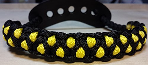 Muddy River Gear Archery Bow Wrist Sling Black and Yellow Caged by Muddy River Gear (Image #1)