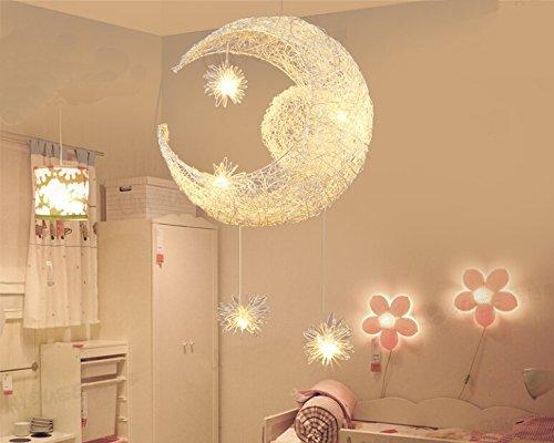 Plafoniera Per Cameretta Bimba : Lonfenner lampada a sospensione plafoniera con luna e stelle per la