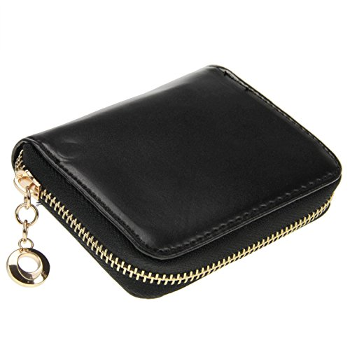 Women Girls Cute Bowknot Waterproof PU Leather Fold Mini Short Wallet Coin Purse Zipper Card Case Holder Clutch Small Handbag Nice Gift by Fakeface (Image #3)