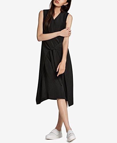 Tie Deep Bar Black Cocktail Dress Womens III Beirut Front Sleeveless qZZFpgtwx