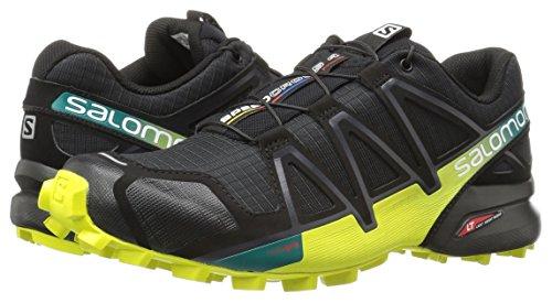Salomon Men's Speedcross 4 Trail Runner, Black/Everglade/Sulphur, 7 M US by Salomon (Image #6)