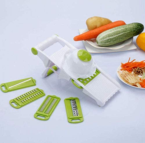 チョッパー野菜カッター、多機能チョッパー、果物と野菜のプレーニング、家庭用ポテトチョッピングスライサー、おろし金