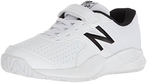 New Balance Kid's 696v3 Tennis Shoe, White, 3 M US Little Kid (Best Shoes For Gym Classes)