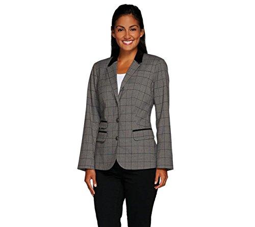 Liz Claiborne Black Leather (Liz Claiborne NY Heritage Collection Blazer Pckts Suede Charcoal 12 New A267300)