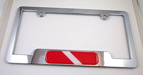 Diver Diving Diver ABS Chrome Plated License Plate Frame Free caps and washers