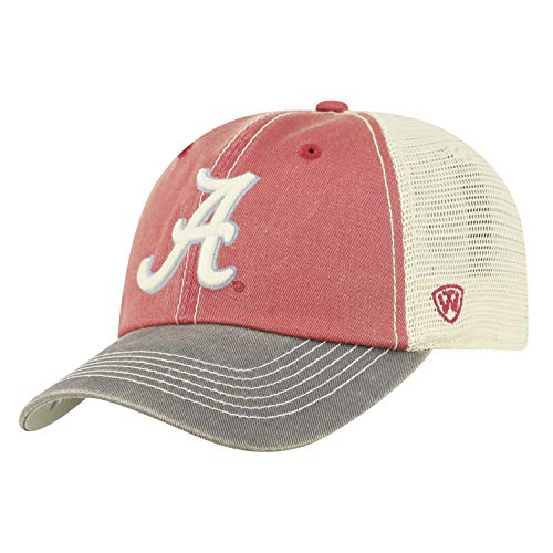 Top of the World Alabama Crimson Tide Men's Mesh-Back Hat Icon, Cardinal, Adjustable