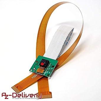 AZDelivery cámara con Cable de Cinta Flexible de 15cm para ...