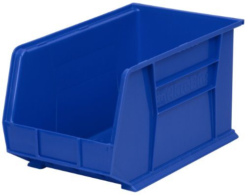 Akro-Mils 30260 Plastic Storage Stacking Hanging Akro Bin, 18-Inch by 11-Inch by 10-Inch, Blue, Case of 6 by Akro-Mils
