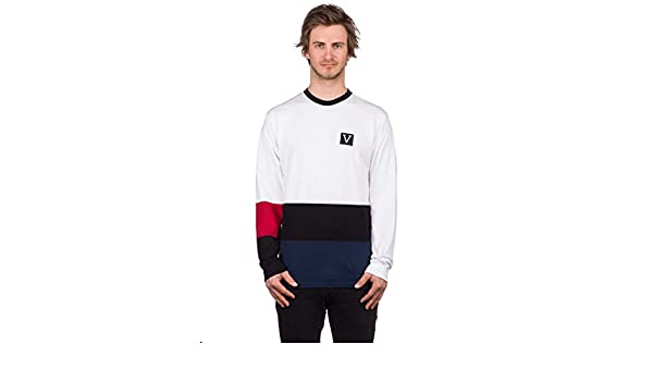 0f028f46f Vans Chima Colorblock Long Sleeve Tee (White) Men's Skate Knit Shirt:  Amazon.ca: Clothing & Accessories