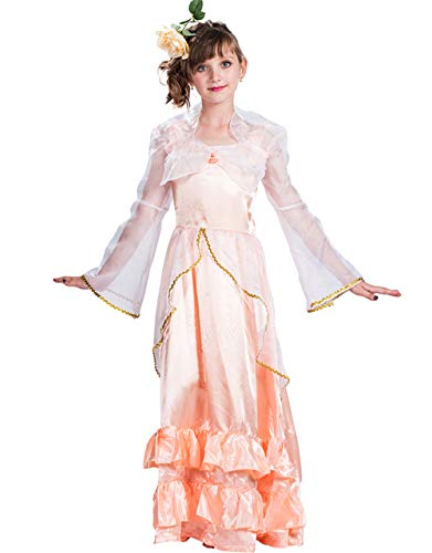 Halloween Costume,Girls Woodland Fairy Cosplay Costume Lovely Lace Christmas Princess Dress for Kids Girls (Large) -