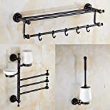 TY A Set of Three Products(Towel Warmer/Towel Bar/Toothbrush Holder/Soap Dishes/Toilet Brush Holder)Oil Rubbed Bronze
