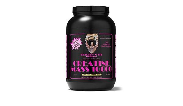 Amazon.com: HEALTHY N FIT - CREATINE MASS 10,000 - 3.5LB Vanilla ...