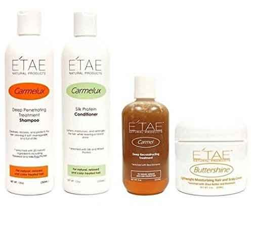 Etae Natural Products Carmelux Shampoo,Conditioner,Carmel Treatment,Buttershine Combo ()