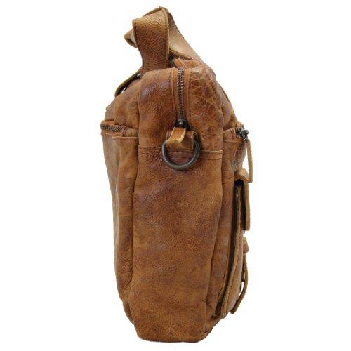 BARON de MALTZAHN Mallette - Sac pour ordinateur portable JADEN en cuir brun marron