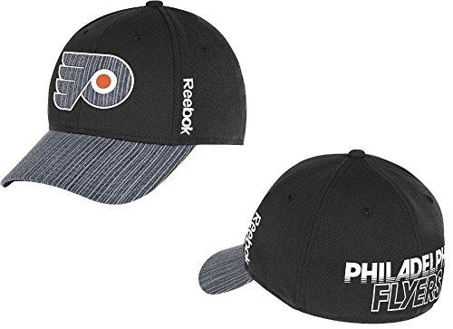 Philadelphia Flyers Ice - Reebok Philadelphia Flyers Black Travel And Training Center Ice Collection Hat (L/XL)