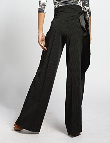 Pantalon Élastique G4007 stripe Professionnel Satin De sbs Le En Scgginttanz Salon Moderne black Danse Ruban a0zOwqf