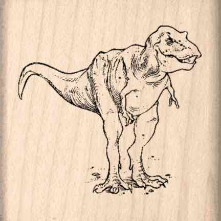 Dinosaur Rubber Stamp - 1-1/2 inches x 1-1/2 inches