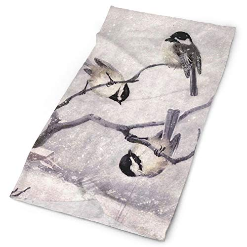 Magic Headwear Bandanas Headbands Headscarf Painting Animal Chickadee Birds Motorcycle Face Mask UV ResistenceBalaclava Tube Scarf Neck Gaiter Caps for Fishing Cycling