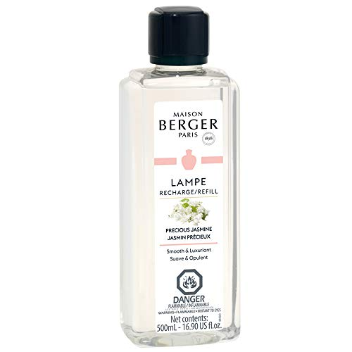 Precious Jasmine - Lampe Berger Fragrance Refill for Home Fragrance Oil Diffuser - 16.9 Fluid Ounces - 500 milliliters