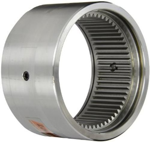 Lovejoy 00107 Size C 2.5 Sleeve Component for Sier-Bath Continuous Sleeve Gear Coupling, Carbon Steel, Inch, 5.50