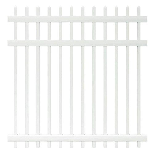 6 ft. x 6 ft. Manchester Spaced Picket Vinyl Fence Panel - Unassembled