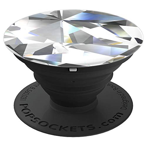 Cool Prism Faceted Gemstones Cuts Like Closeup Diamond Shape - PopSockets Grip and Stand for Phones and Tablets