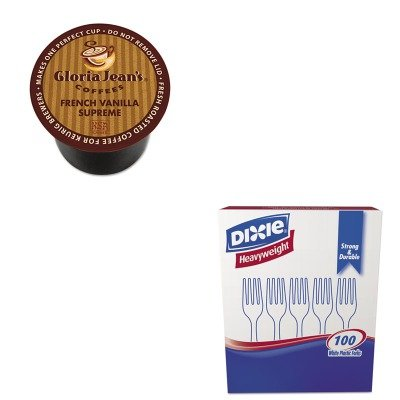 KITDIE60051046DXEFH207 - Value Kit - Green Mountain Coffee Roasters French Vanilla Supreme Coffee K-Cups (DIE60051046) and Dixie Plastic Cutlery (DXEFH207)