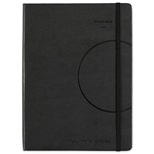 "AT-A-GLANCE 2019 Weekly / Monthly Appointment Book / Planner, Plan.Write.Remember., 7-3/8"" x 9-3/4"", Medium, Black (70695005) from AT-A-GLANCE"