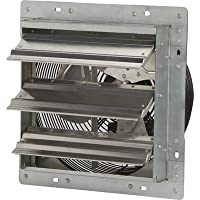 Strongway Totally Enclosed Direct Drive Shutter Exhaust Fan - 12in., 3-Speed, 840/730/675 CFM