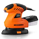 Mouse Detail Sander, Tacklife 1.6AMP, 200W, 12000OPM Sander with 360° Rotatable Sanding Disc, Efficient Dust Collection Box, 9.84Ft(3M) Long Power Cord - PMS02A