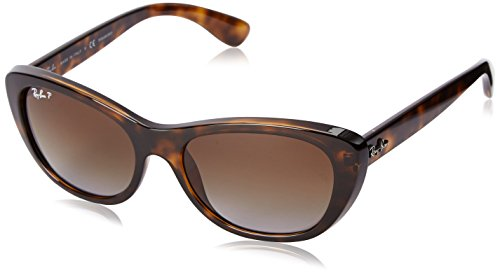 Ray-Ban INJECTED WOMAN SUNGLASS - LIGHT HAVANA Frame BROWN GRADIENT POLAR Lenses 55mm Polarized by Ray-Ban