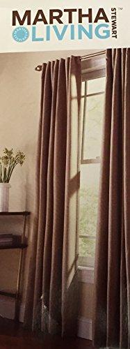 Tab Tweed (Martha Stewart Living Monk Cloth Thermal Tweed Back Tab Curtain)