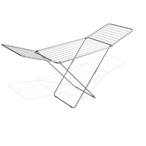 Wäscheständer Silber 20m Wäschetrockner Flügelwäschetrockner Wäsche Trocknen