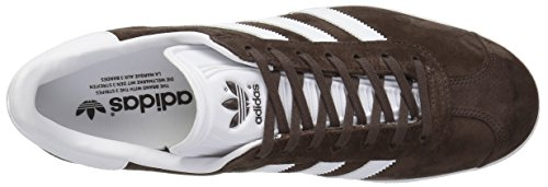 Adidas Heren Gazelle Toevallige Tennisschoenen Bruin / Wit / Metallic / Goud
