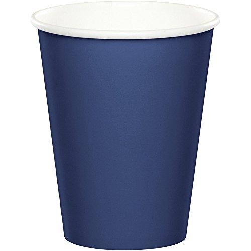 - 48 Navy Blue Premium 9oz Hot/Cold Cups Bulk Party Supply Wedding Shower Birthday Anniversary