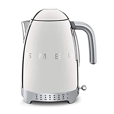 Smeg KLF02SSUS 50's Retro Style Variable Temperature Kettle, Polished Stainless Steel